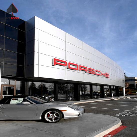 Porsche 4s Shop Exterior Wall Panel Aluminum Composite Panel