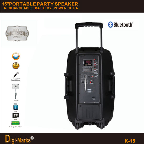 Perfect Trolley Wireless Trolley FM SD USB Bluetooth Powered Speaker pictures & photos