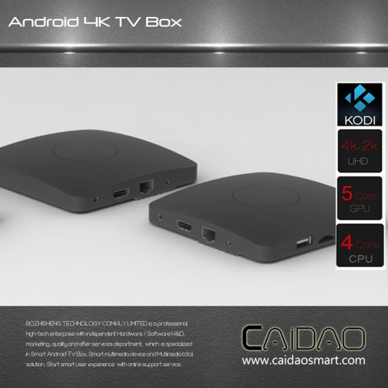New Arrival 2.4G/5.8g Dual Band WiFi Android 6.0 TV Box Based on Cortex A53 64bit Processor pictures & photos