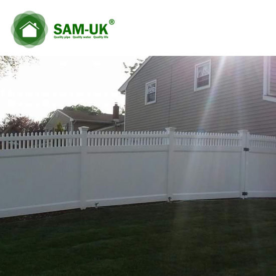 6' X 8' Vinyl PVC Privacy Fence Double Gate Garden Zone