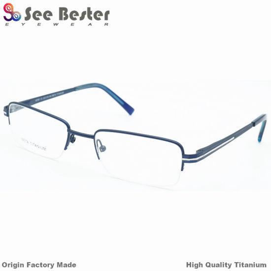 China 100% Titanium Top High Quality Half Frame Optical Frames with ...