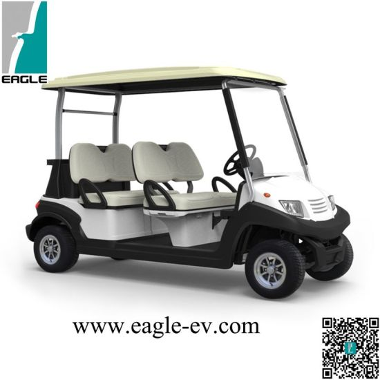 China Golf Cart, 4 Seat with Flip Flop Seat, Pure Electric, Aluminum ...