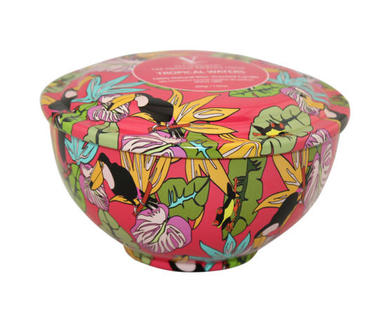 Seamless Bowl Shape Candle Tin Box for Wax Packaging