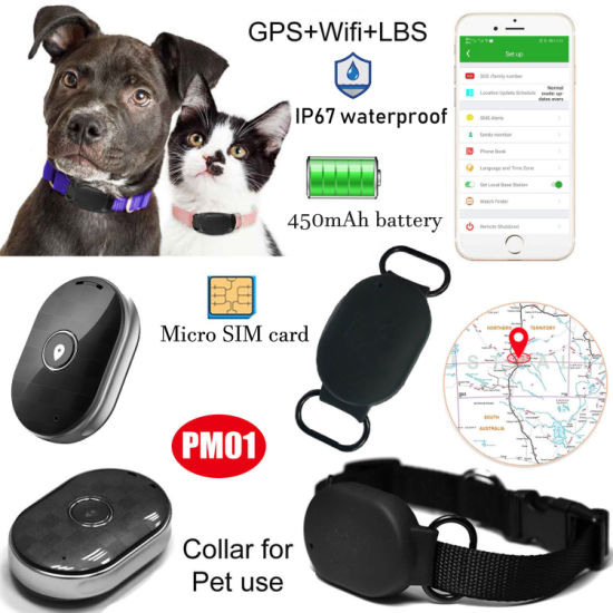 New Developed IP67 Waterproof Mini Hidden Puppy Navigator GSM GPRS Tracker GPS with Real Time Google Map Tracking