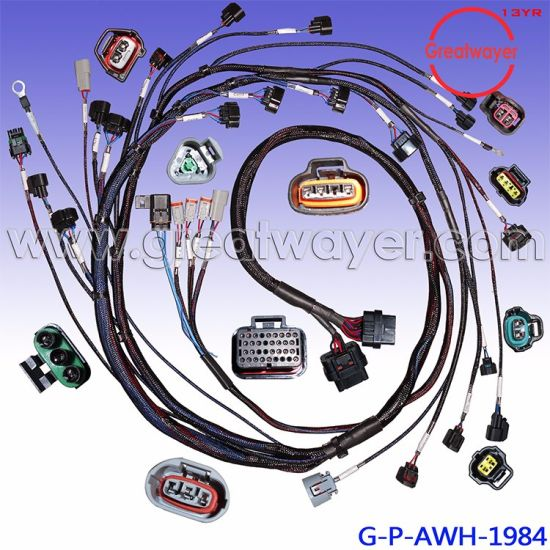 china nissan pet mesh ecu 32 pin connector engine wiring harness rh greatwayer en made in china com wiring harness mustang wiring harness massey 135
