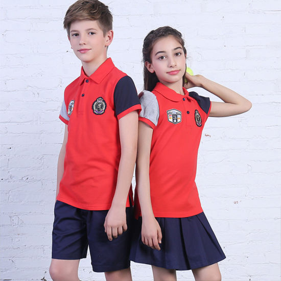 bae578ee Custom New Design School Uniform Polo Shirt of Red Colors pictures & photos