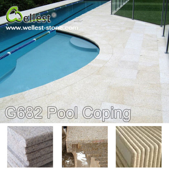 Natural Stone Swimming Pool Coping Tile and Pavers