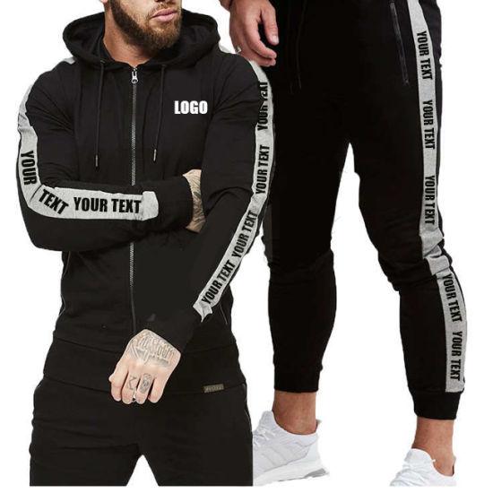 Customized Sweat Suit Men Jogging Sports Mens Jogging Suits Wholesale Side Strip Tracksuit (GST-Jogging-XN01)