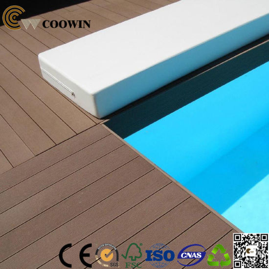 Coowin Waterproof WPC Not-Fade Decking Floor pictures & photos