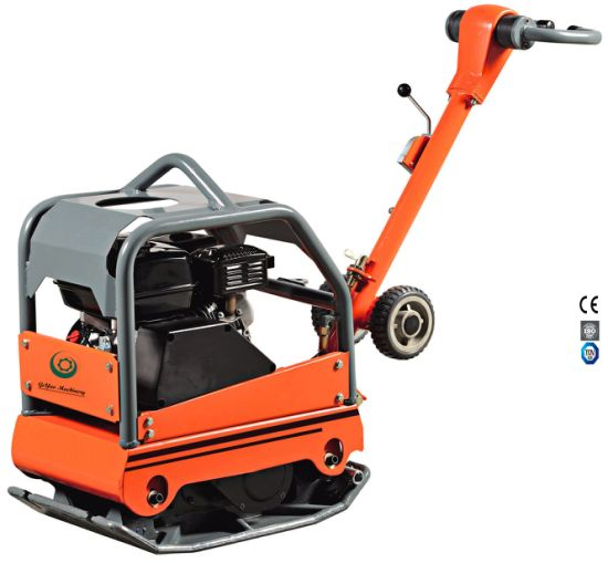 Walk Behind Gasolinel Concrete Vibratory Reversible Plate Compactor with Honda Engine Gyp-40