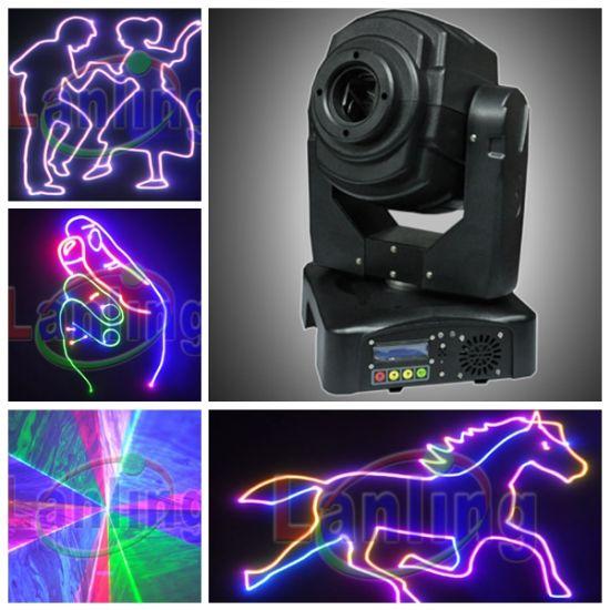 Powerful 1.8W Multi Color RGB Moving-Head Animation Ilda