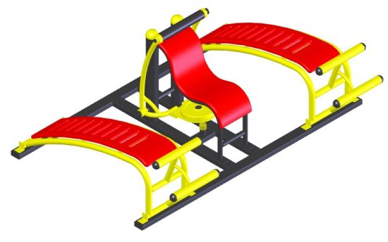 Curved Abdominal Board Machine Outdoor Fitness Training Machine (HD-12606) pictures & photos