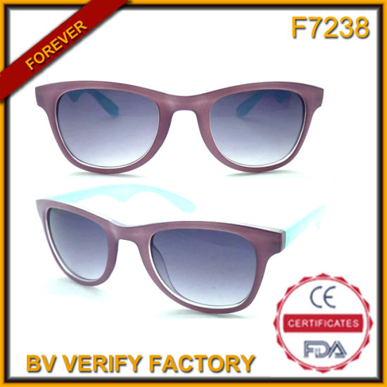 cd27ec30d84b F7238 Classic Designed Two Colored Plastic Frames Unisex Sunglasses  pictures & photos
