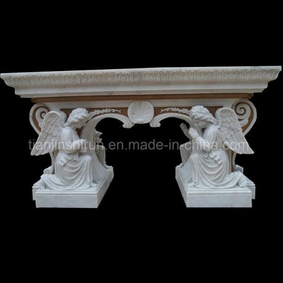 Angel Sculpture Two Sides Carving Altar Bnh355