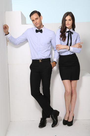 New Design Men and Women Business Shirt of Slim Fit