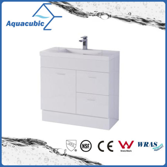 30 Inch Vanity Cabinet With Poly Basin In White (ACF750)