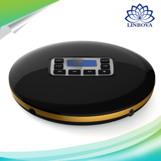 HiFi Audio CD Player Reminiscent Mini Portable CD Player with LED Display Round Multi Function Music Player pictures & photos