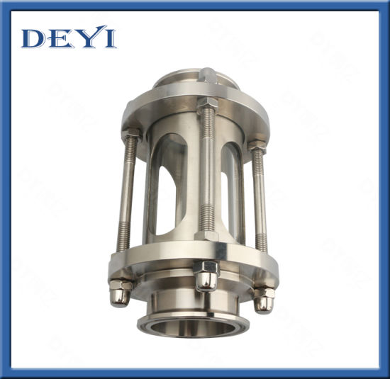 Stainless Steel 3A Sanitary Full View Sight Glass Flow Indicator Clamp Ends
