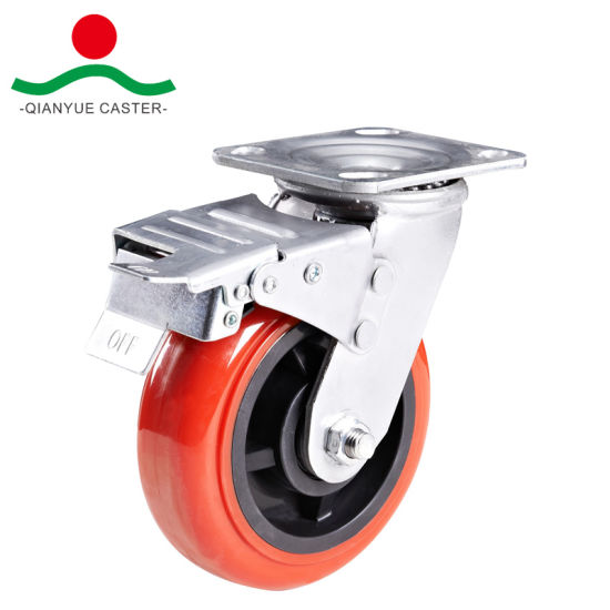 PU Heavy Duty Caster, Side Brake pictures & photos