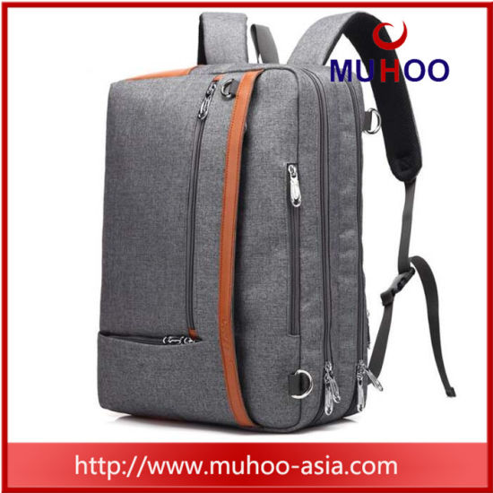 Black Nylon Travel Shoulder Computer Bag Laptop Backpack for Men pictures & photos