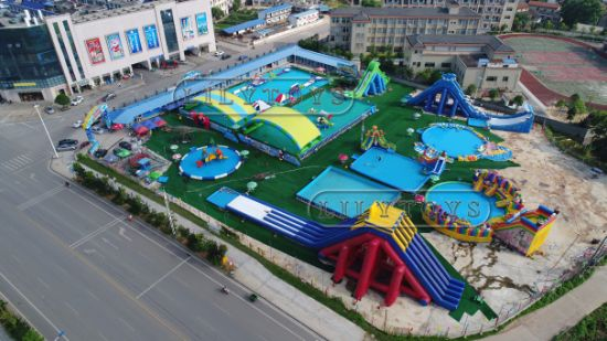 Inflatable Moving Water Park for Kids and Adults pictures & photos
