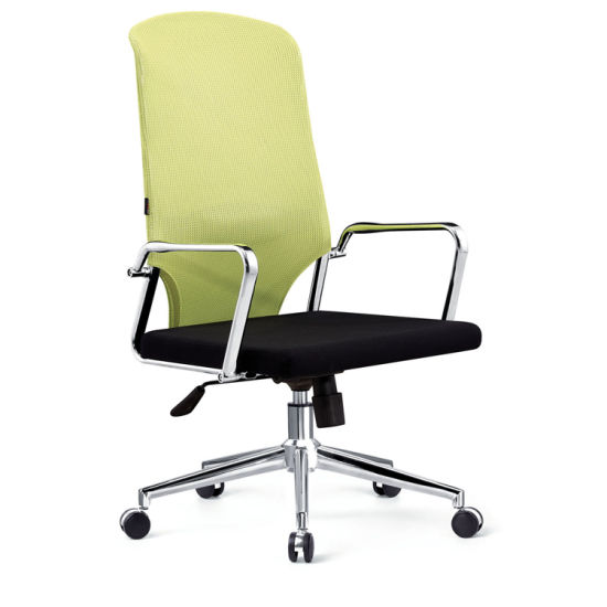 Full Mesh Back Fabric Seat Computer Chair With Metal Base