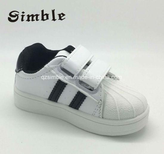 Little Kids Baby Children Prewalker Black White Walking Leather Shoes
