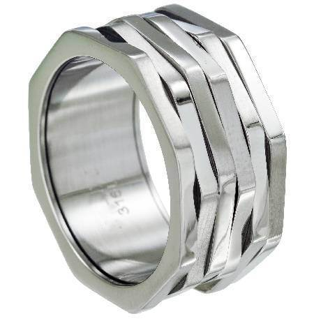 Fashion Trendy Couple Stainless Steel Ring Jewelry pictures & photos