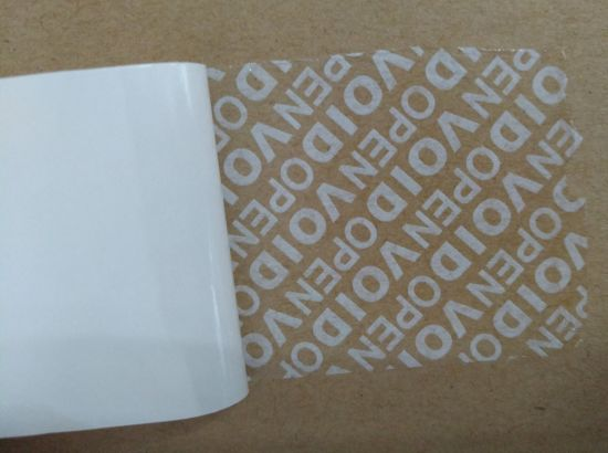 Tamper Evident Printing Material Void Packing Label