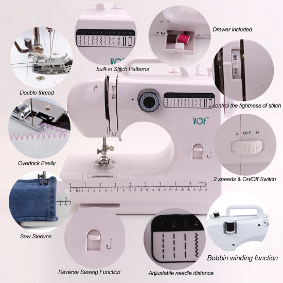 China Vof Cheap Pattern Overlock Wig Sewing Machine for Kids (FHSM ...