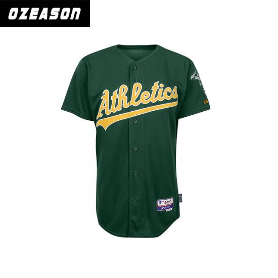 Custom Sublimation Button Dri Fit Baseball Jerseys (B013)