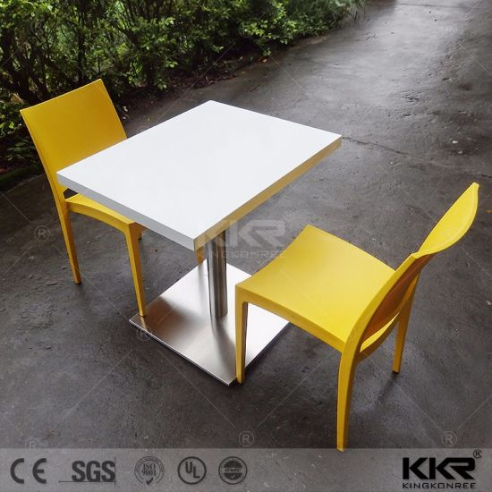 Restaurant Furniture Acrylic Solid Surface Seater Dinner Table - Restaurant marble table tops