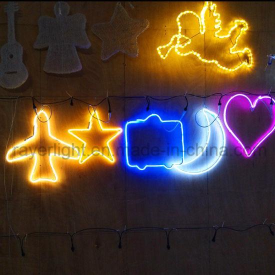 christmas rope lighting. Christmas Decorationled Neon Rope Lights Window Decoration Lighting