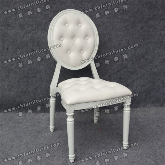 Yc D126 Modern Round Back Good Garin Frame Hotel Dining Leather Banquet Chair