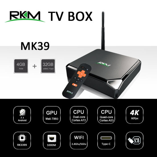 Rk3399 Hexa Core Android 7.1 TV Box with 4G RAM, 32g ROM pictures & photos