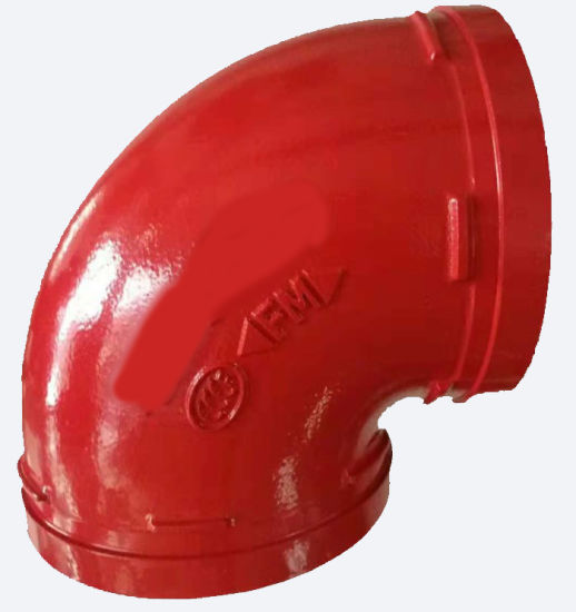 FM UL Certificated Ductile Iron Pipe Fittings Grooved Elbow for Pipe Transportation