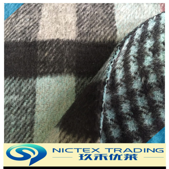 Tweed Two Faces Wool Fabric for Winter Coat