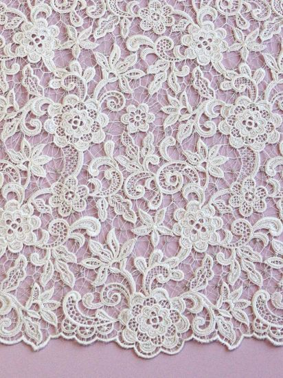 Elegant Wedding Beads and Sequins Embroidery Fabric Lace