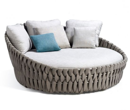 Rope Sun Lounger Outdoor Lying Bed
