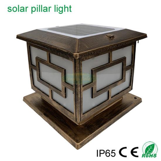 High Quality CE LED Energy Gate Lamp Landscape Solar Garden Light for Fence Pillar Post Lighting