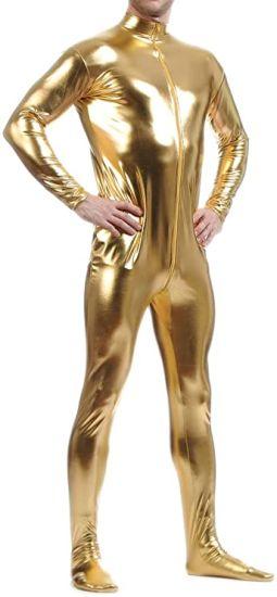 Unisex Metallic Lycra Bodysuit Zentai Without Hood