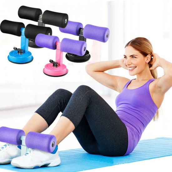 New Sit UPS Assistant Device Indoor Fitness Sit-up Exercise Bar Adjustable Padded Ankle Support Abdominal Muscle Training Tool Sit-UPS Suction Cup