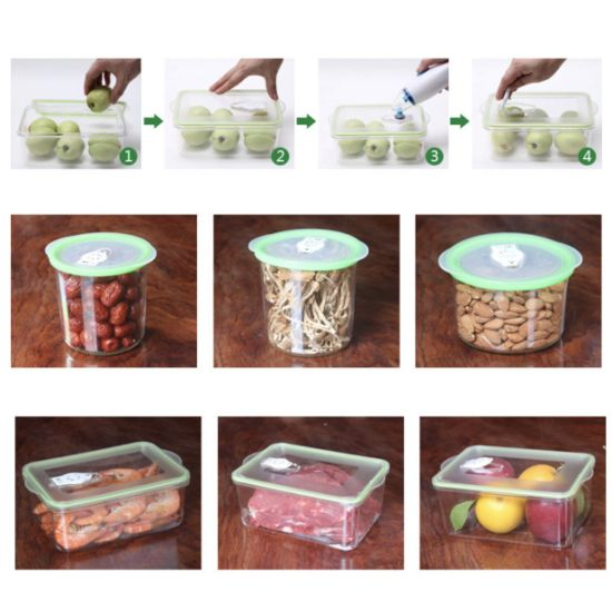 Food Storage Container BPA Free Vacuum Sealing Box Microwavable Safe