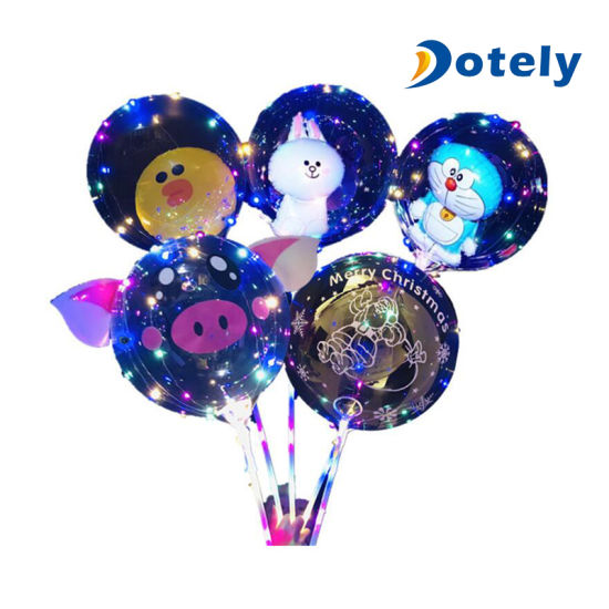 Transparent Clear Party Eco-Friendly Bobo Balloon 20 Inches LED Balloon