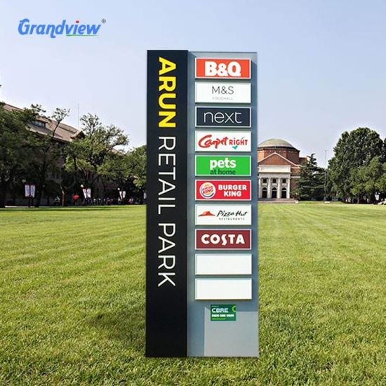 Professional Custom Free Standing Stainless Steel Outdoor Parking Pylon Sign