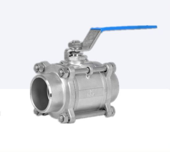 3PCS Flow Control 304/316L Hygienic /Sanitary Stainless Steel Ball Valve