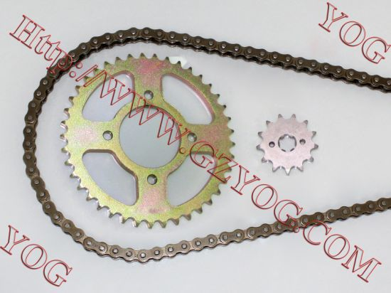 Chain and Sprocket Transmission Set Chain Sprocket Kit for Tvs Star pictures & photos