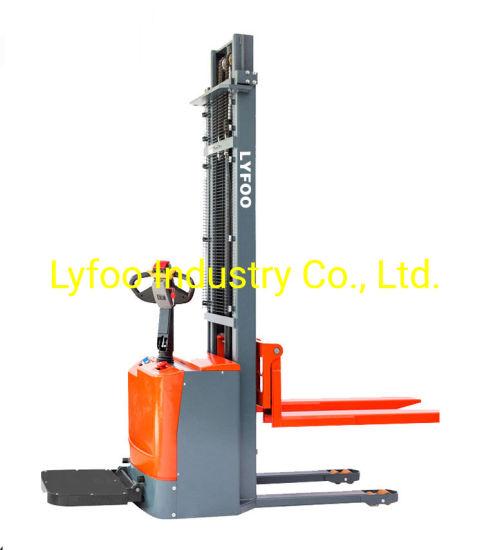 1500kg Electric Stacker Reach Fork Truck Rider Stacker