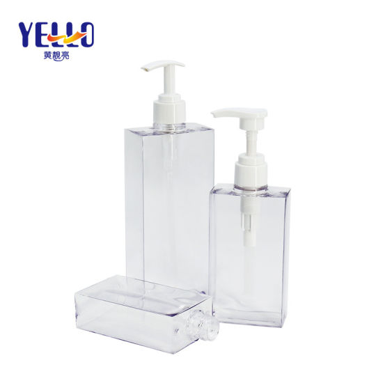 Hot Sale Fancy Rectangular Plastic 200ml 300ml 500ml Shampoo Bottle with Pump