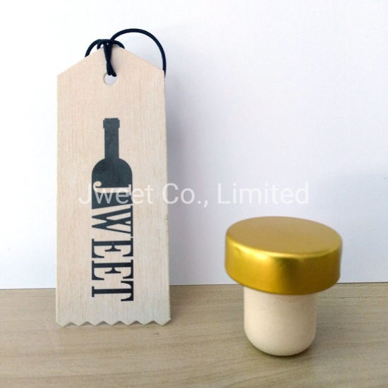 Custom Aluminum Top Synthetic T Cork Stopper for Wine Bottle